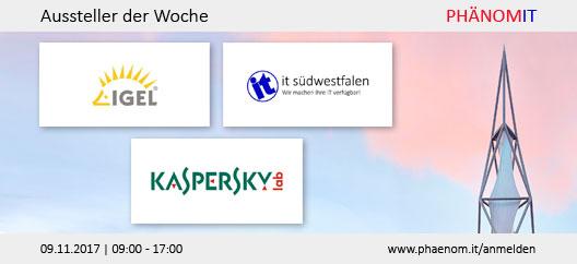Aussteller der Woche: IGEL, IT Südwestfalen AG, Kaspersky