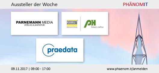 Aussteller der Woche: Parnemann Media, Pickard + Heffner, praedata